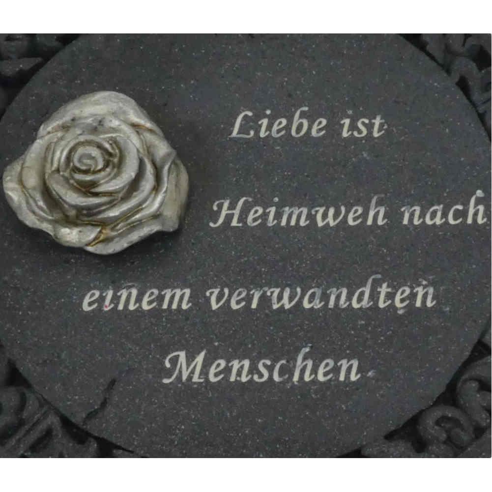 Rose Gedenkplatte Grabplatte verschiedene Farben Grabschmuck
