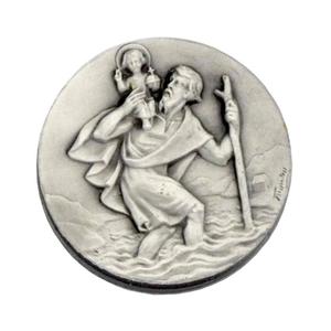 Schlüsselanhänger Christophorus Schutzpatron Autofahrer Madonny Lourdes Religijna sztuka ludowa Wisiorki i medaliki