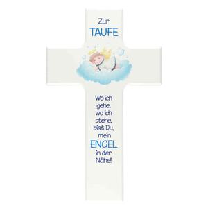Kinderkreuz mit Engel 20 x 12 cm Taufkreuz mit Schutzengel 5085 L0F Holz Kreuz